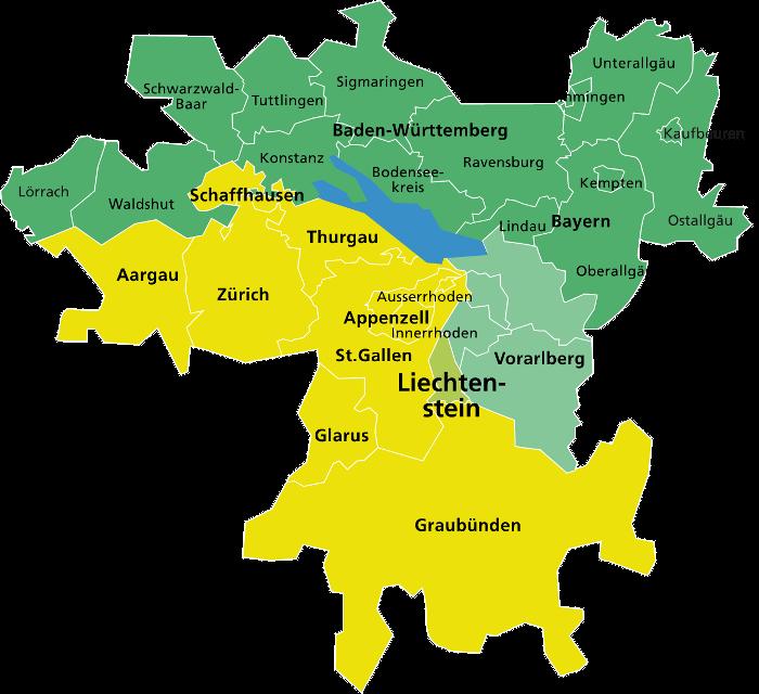 Lago Di Costanza Germania Cartina.Reno Alpino Lago Di Costanza Alto Reno Sviluppo Regionale Regiosuisse