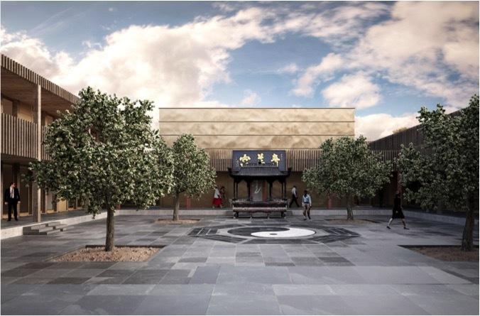 Construction du Centre Européen d'arts taoïstes «Ming Shan» à Bullet