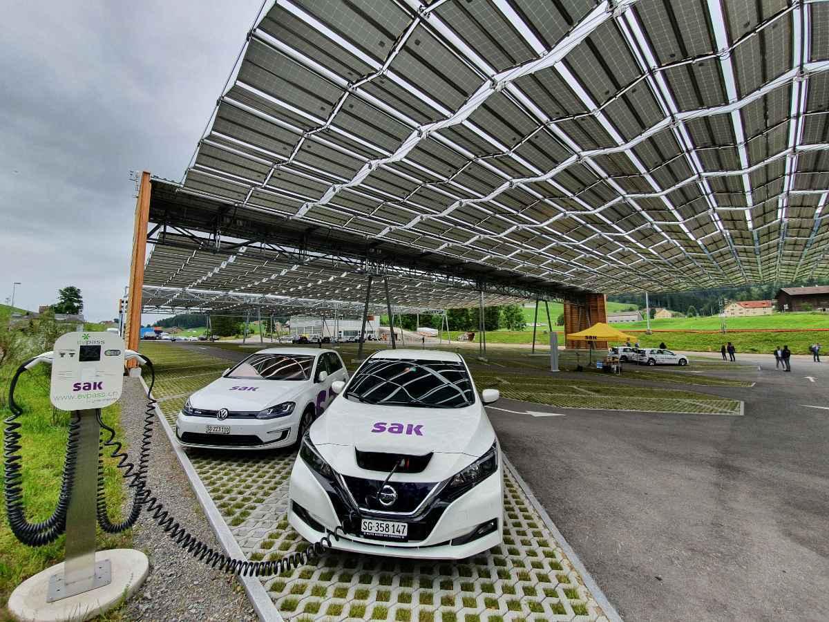 Solardach Parkplatz Jakobsbad